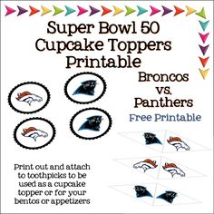 Super Bowl Party Ideas & Free Printables