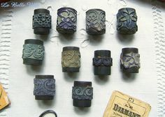 Set of 10 vintage french rubber stamps for by LaBelleVille on Etsy, €52.50