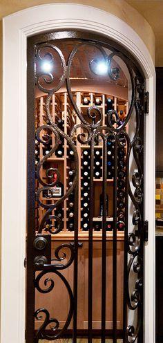 wine closet doors | Custom basement denver, wine room, wine storage door