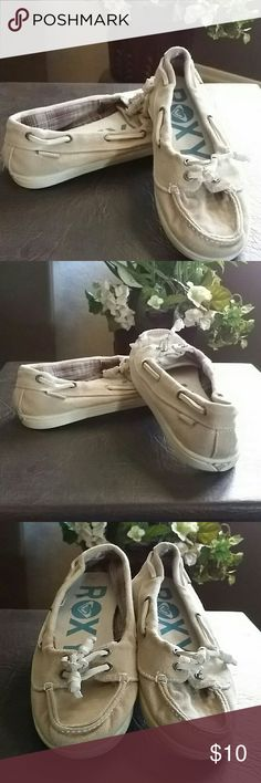 ROXY  * Tan Slip-on Shoes * Pre-owned * Good Condition * No Trades * Bundle and Save * Posh Love * Roxy Shoes