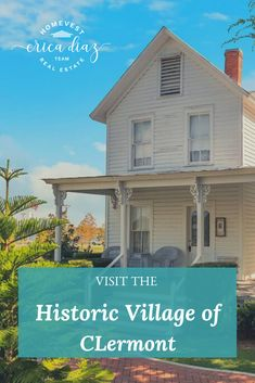 If you have not yet visited the Historic Village of Clermont, Florida, it should be on the top of your list of historical things to do in Central Florida! It is such a wonderful place to visit full of history. Visit Florida, Florida Living, Florida Vacation, Central Florida, Orlando Florida, Clermont Florida, Sell My House Fast, Sunshine State, Wonderful Places