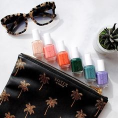 @essiepolish Spring break essentials. With our Palm Beach Travel Pouch and our Akita Milk Tortoise Sunnies! Both available at shopsonix.com!