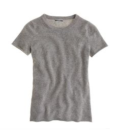 J. Crew Collection Cashmere Tee in Heather Grey