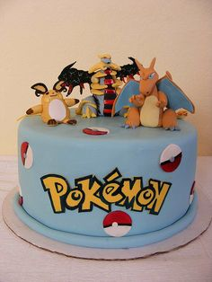 Pokemon cake by bubolinkata, via Flickr