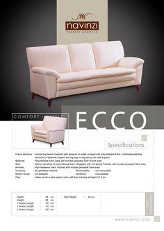 ecco Outdoor Sofa, Outdoor Furniture, Outdoor Decor, Polyurethane Foam, Plywood, Hardwood, Couch, Home Decor, Hardwood Plywood