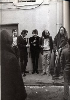 Robbie Robertson, Michael McClure, Bob Dylan, Allen Ginsberg, and Lawrence Ferlinghetti - so much...I just can't....the collective talent in this photo.
