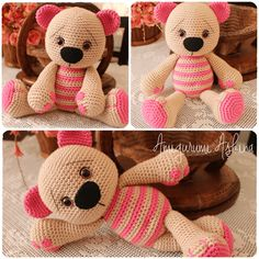 Crochet pattern: Tummy Teddy by Mari-Liis Lille