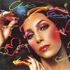 """cher time cover   The cover of """"Stars"""", 1975, an iconic image that defines the Glam look ..."""
