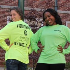 The School of Ed has neon #RebelTeacher running shirts just in time for winter running season! Click for purchase details.