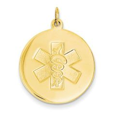 14k Non-Enameled Medical Jewelry Pendant Shop4Silver. $385.76