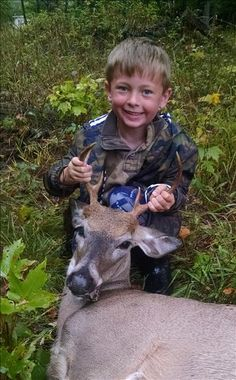 Mentored Youth Hunt  Brandon Martinson's first buck - 7 point, taken in Cadillac with a crossbow on September 21, 2014