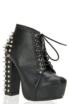 Spiked Boot- Black