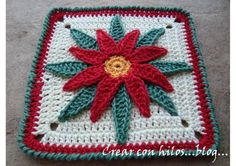 Poinsettia potholder - free pattern