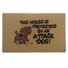 """Momentum Mats Attack Dog Indoor Mat (18 x 27 inches) (Attack Dog (18"""" x 27"""")), Brown, Size 1'5 x 2'3 (Nylon, Animal)"""