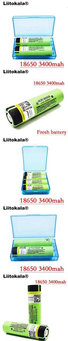 Liitokala 4pcs/lot New 2017 Original ForPanasonic NCR 18650 3400mah Rechargeable Li-ion  3.7V 3400 battery