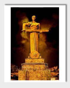 Armenian Art, Mother Armenia, Armenia Art, Digital #art #drawing @EtsyMktgTool http://etsy.me/2vD0HrF