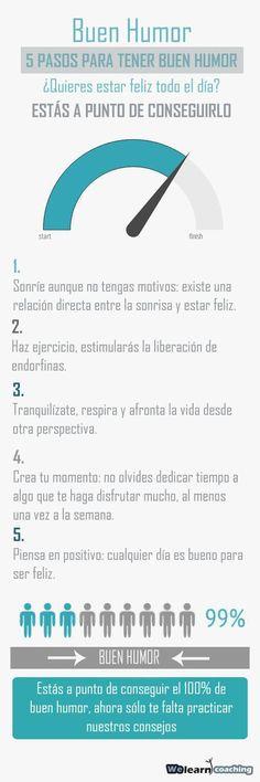 #Infografia #Curiosidades 5 pasos para tener buen humor. #TAVnews