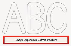 Classroom Freebies: Large Uppercase Letter Posters