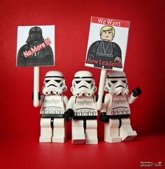 LEGO Minfigure Star Wars #lego #starwars #darthvader #lukeskywalker #stormtroopers