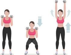 Get physical by grabbing a dumbbell to tone up those arms! Front Dumbbell Raise Front raises will work your trapezius as well as the back of your shoulders. Stand with your feet hip-width apart, holding a dumbbell in each hand by your side. Tense your cor Killer Workouts, Toning Workouts, At Home Workouts, Workout Routines, Chest Muscles, Core Muscles, Shoulder Workout At Home, Bingo Wings, Dumbbell Workout