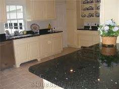 Emerald Pearl Granite White Washed Cabinets   Google Search