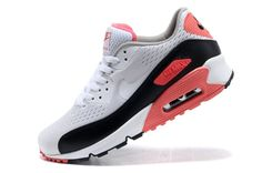 pretty nice 4abcc 0938b Cheap Nike Air Max 90 Premium EM Sport Shoes for Women White Red Black