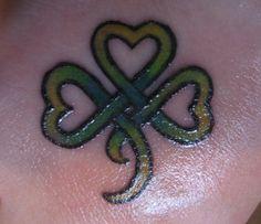 Celtic shamrock tattoo - very cute