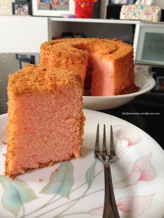 Rose Lychee chiffon cake