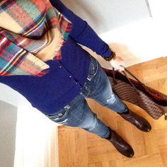 Instagram @headedoutthedoor #ootd | #bananarepublic sweater | #targetstyle #targetdoesitagain scarf | #vigossusa jeans via #Nordstrom | #thefryecompany boots | #louisvuitton bag | #jcrew bracelet | #michaelkors watch