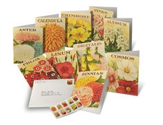 USPS Vintage Seed Packet note cards and stamps will add a touch of spring to your cards and letters this season.