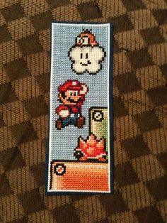 mario stitched bookmark