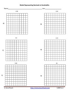 image regarding Printable Hundredths Grids titled 75 Great Math Grids photographs within just 2016 Math, Multiplying