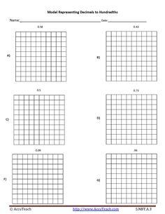 best math grids images  grid calculus math representing decimals to hundredths worksheet activity trin daniels  math  grids