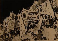Manifestación de Coordinadora de Bases Peronistas, Montoneros y F.A.P.