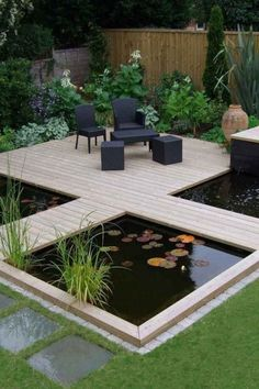 Koi Teich Designs i池デザイン #デザイン #池 Related posts: How to Build a Pond and Waterfall Modern Diy Garden Pond Waterfall Ideas For Backyard 04 DIY Pond with Flex Seal Liquid® 55 The most popular ideas for pond and water gardens in a beautiful garden Garden Pond Design, Backyard Patio Designs, Landscape Design, Unique Garden, Diy Pond, Minimalist Garden, Minimalist Design, Pond Landscaping, Cheap Landscaping Ideas