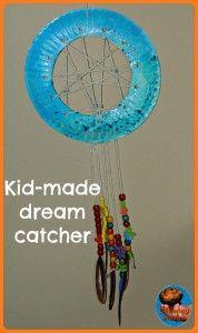 paper plate dream catcher
