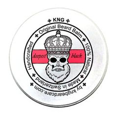 "KNG BeardCare Bartbalm ""deepest black"" 60g Beard Balm, Dose, The Balm, King, Green, Vanilla, Designer Stubble, Face Hair, Shaving"