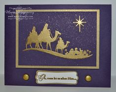 Follow the Star to Bethlehem Card by MarieStamps.com featuring Stampin' Up!'s Come to Bethlehem stamp set.