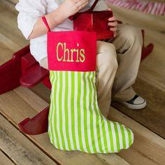 Personalized Stripe Christmas Stocking