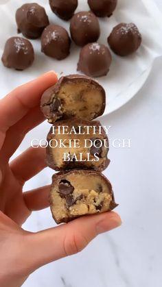 Healthy Deserts, Healthy Sweets, Healthy Dessert Recipes, Sweets Recipes, Healthy Baking, Vegan Desserts, Healthy Cookie Dough, Healthy Cookies, Dairy Free Cookie Dough