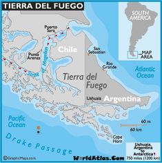 Located at the southern tip of South America is the Tierra Del Fuego archipelago....
