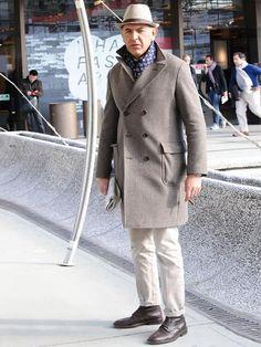 完璧に近いダブルチェスターコートの着こなしです。 | メンズファッションの決定版 | MEN'S CLUB(メンズクラブ)