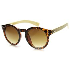 Eco Friendly Bamboo Wood Retro Round Sunglasses - zeroUV Oakley Sunglasses,  Round Sunglasses, Sunglasses dc572e459a