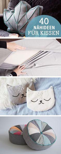 DIY-Anleitungen: 40 Nähideen für Kissen, DIY-Inspiration / diy sewing tutorials for cushion, crafting home decor via DaWanda.com: