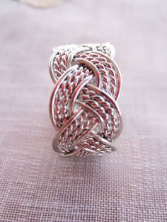 Telkari Sterling Silver Wire Wrapped Ring by SILVERWORLDDESIGN, $35.00