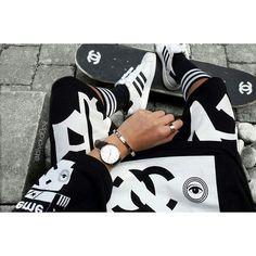 black an white