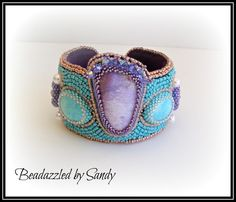 Lovely Lavender: A Bead Embroidered Cuff - pinned by pin4etsy.com