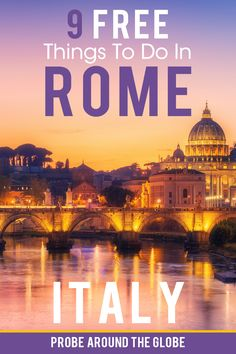 How to see Rome on a budget? I list my 9 favorite FREE things to do in Rome with practical tips on what to see and do that will not cost you any money. Italy Travel Tips, Rome Travel, Europe Travel Guide, Backpacking Europe, Budget Travel, Traveling Europe, Sicily Travel, Europe Packing, Travel Info