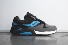 Saucony Grid 9000 – Black / Blue - Grey