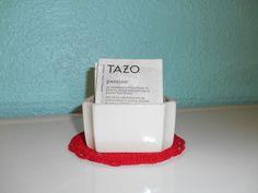 White ceramic sugar or tea packet holder by SouvenirAndSalvage, $9.00